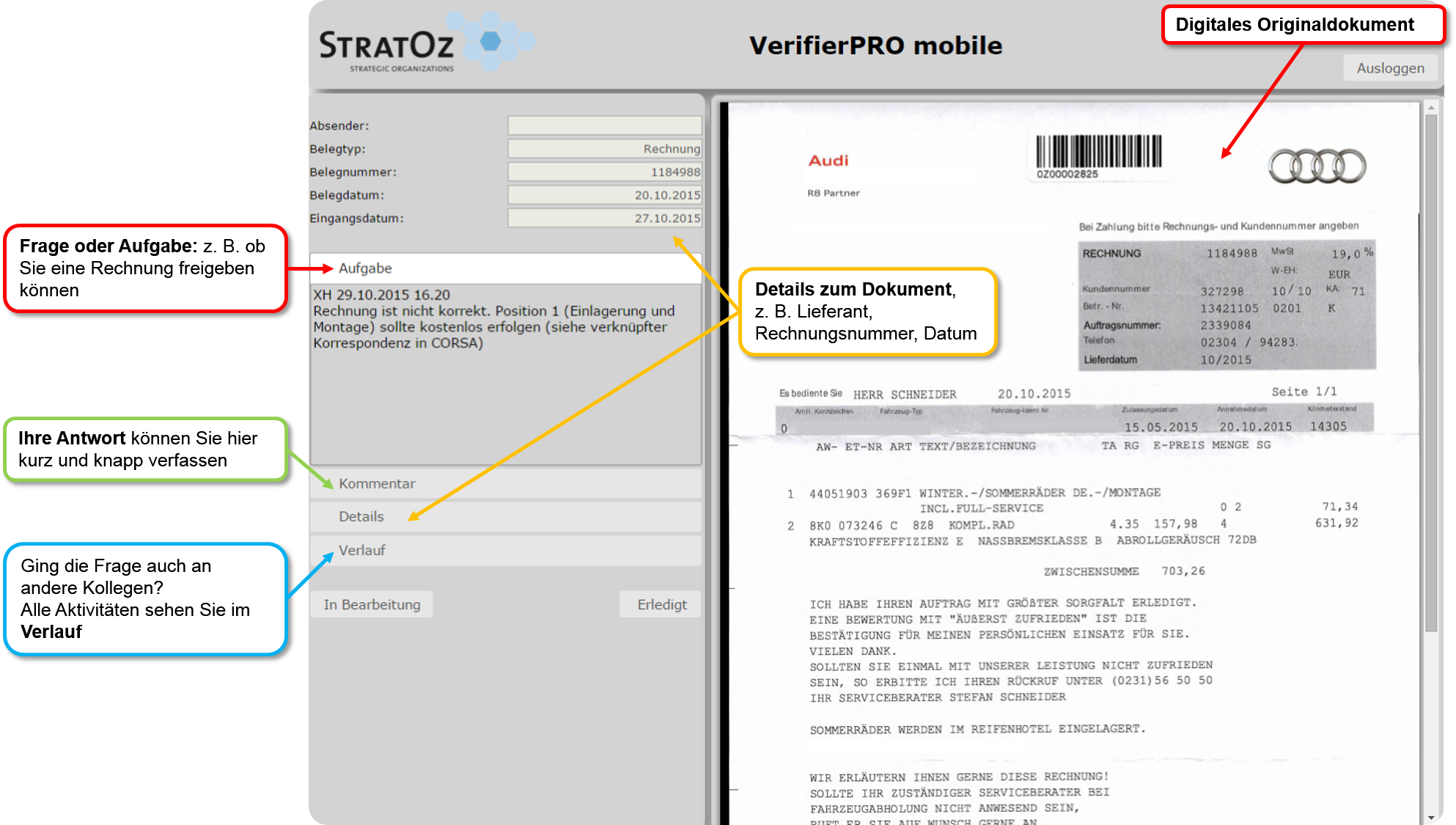 VerifierPRO mobile - kommentiert
