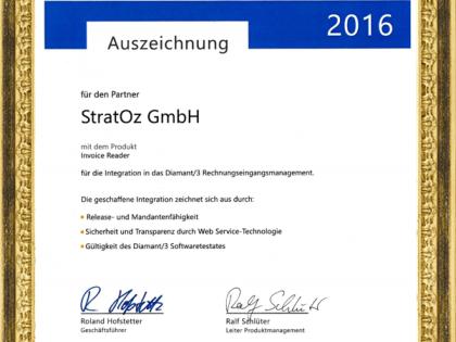 Zertifiziert: Software-Testat für Diamant/3 Digitales Rechnungseingangsmanagement